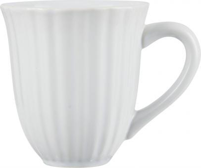 ibLaursen Mynte Tasse mit Rillen White