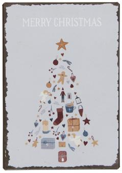 "ibLaursen Metallschild ""Merry Christmas"""