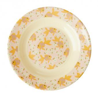 rice Kids Suppenteller Goldfish Print