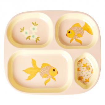 rice Menüteller Goldfish Print