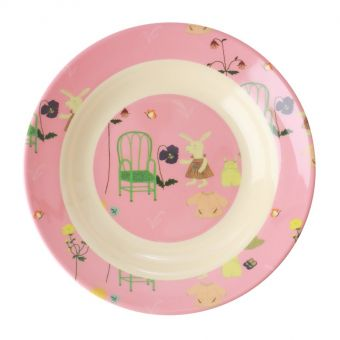 rice Suppenteller Bunny pink