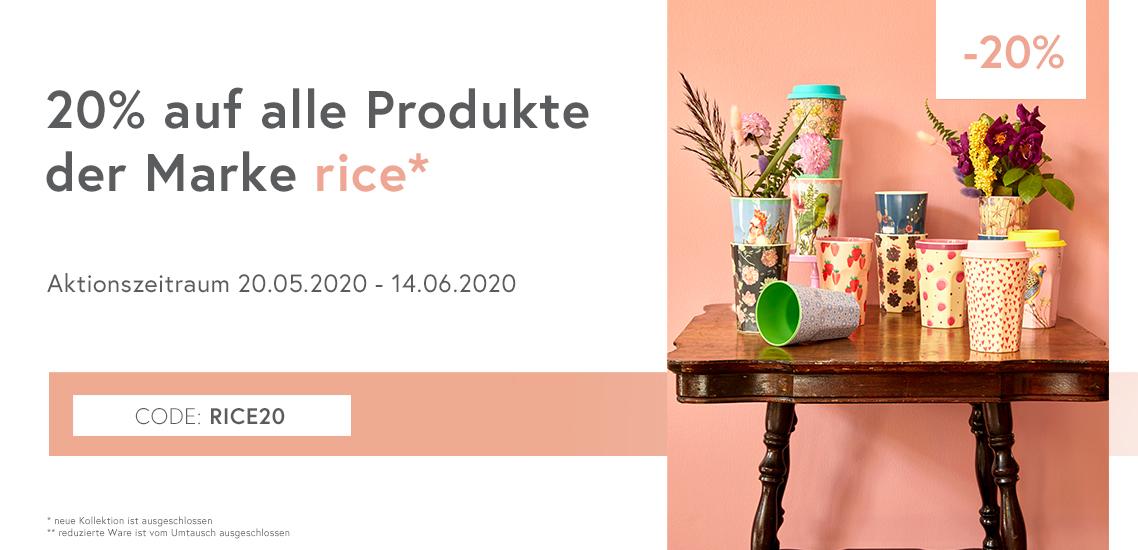 20 % rice